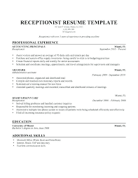 Best Receptionist Resumes Samples Job Objective Examples