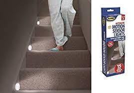 3 motion sensor lights stairs path led automatic