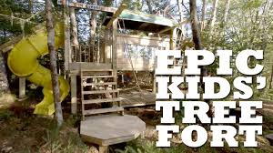 Epic Kids' Tree Fort - YouTube 9 Free Wooden Swing Set Plans To Diy Today How Build A Tree Fort Howtos Best 25 Backyard Fort Ideas On Pinterest Diy Tree House 12 Playhouse The Kids Will Love Gemini Wood Swingset Jacks The Knight Life Custom And Playset Designs From Style Play House Addition 2015 Backyard Swing Bridge Ladder Gate Roof Finale Forts Unique Set
