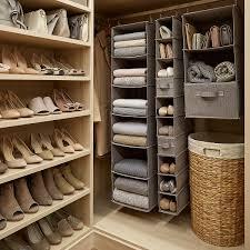 Buy Tangkula Double Rod Rolling Garment Rack Closet Organizer Shelf