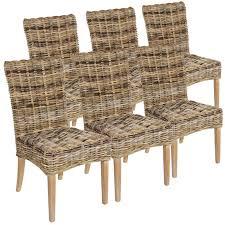 rattanstuhl esszimmer stuhl set 6 stück esszimmer stühle