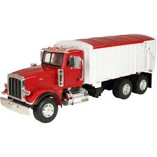 TOMY Ertl Big Farm Peterbilt Model 367 Truck With Grain Trailer — 1 ...