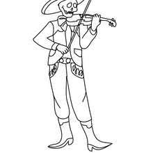 MEXICAN DAY OF THE DEAD Coloring Pages