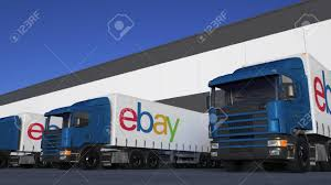 Freight Semi Trucks With EBay Inc. Logo Loading Or Unloading.. Stock ... Ebay Commercial Trucks Luxury Med Heavy For Sale New Cars Scam Digger Excavator Recovery Truck Tipper Van 11 Vehicles In Long Haul Trucker Newray Toys Ca Inc Offset Oddball 1965 Chevrolet Pipe Truck 1937 Ford Walkaround Tour For Ebay Auction Youtube Success Blog An Aerodynamic Lweight Chipper Semi Sleeper Bed Beds Rv 33 Lb Memory Foam Mattress Topper 74 1997 Marmon Custom Day Cab Peterbilt Kenworth Freightliner Used Salt Lake City Provo Ut Watts Automotive 1950 F5 Coe Build Enthusiasts Forums