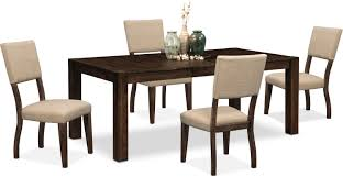 Value City Furniture Kitchen Table Chairs by Tribeca Table And 4 Upholstered Side Chairs Tobacco Value City