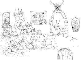 Free Printable Coloring Page Of A Monkey On Llama Finding Group Pirate Alligators