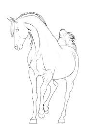 Coloring Page Horse And Rider Pages Horses Ponies Horseshoe Art