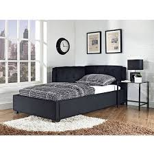 Tufted Lounge Reversible Twin Bed Black Walmart
