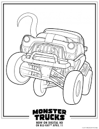 Truck Coloring Pages Printable 20 Free Printable Monster Truck ...