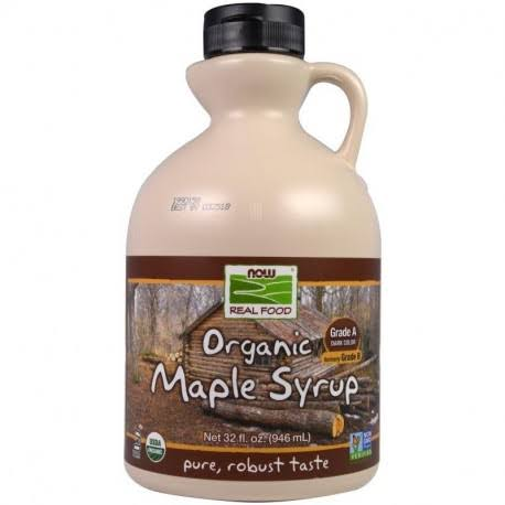 NOW Foods Maple Syrup - Grade B, Organic, 32oz