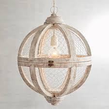 Rosard Wooden Convertible Pendant Light White