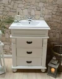details zu gäste waschtisch massivholz badmöbel landhausstil waschbecken mit unterschrank