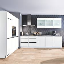 winkelküche s23 inkl e geräte 180 x 300 cm express küchen weiss hg schwarz