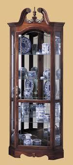 oxford black corner curio cabinet with light wallpaper photos hd