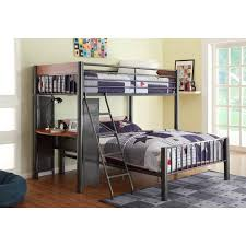 metal loft bed with desk walmart metal loft bed with desk