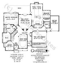Craftsman Style Floor Plans by Abington House Plan House Plans By Garrell Associates Inc