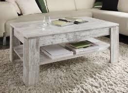 details zu couchtisch shabby vintage wohnzimmer tisch pinie weiß beistell holztisch 110 cm