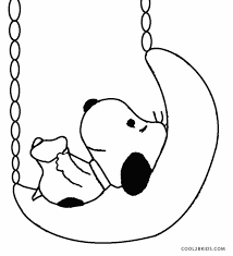 Baby Snoopy Coloring Pages