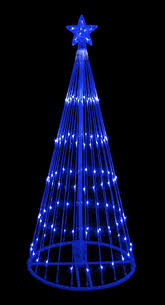 Spiral Pre Lit Christmas Trees by Amazon Com 6 U0027 Blue Led Light Show Cone Christmas Tree Lighted