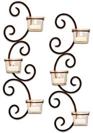 stonebriar transitional scrolled tea light candle