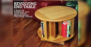 revolving end table plans u2022 woodarchivist