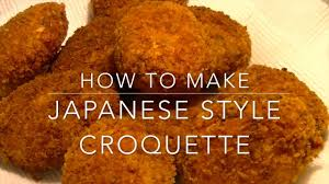 Japanese Pumpkin Croquette Recipe by How To Make Japanese Style Croquette Youtube