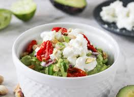 Pumpkin Guacamole Throw Up Cheese by Guacamole With Goat Cheese Roasted Tomatoes U0026 Pistachios