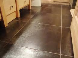 modern style brown floor tile bathroom