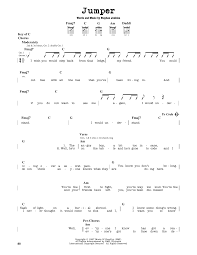 Jumper sheet music by Third Eye Blind Guitar Lead Sheet –