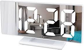 digitaler wecker led digital mirror wecker spiegel usb reisewecker mit snooze datum temperatur für schlafzimmer büro nacht kinder und erwachsene