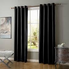 luxus gardine vorhang schlaf wohnzimmer mit ösen uni qualität 1er pack ebay