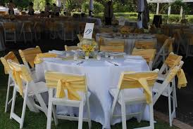 Wedding Table Linen & Chair Decorations