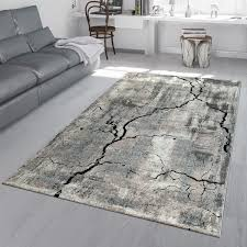kurzflor teppich beton design used look grau