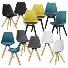 en casa 2x design stühle esszimmer stuhl holz kunststoff