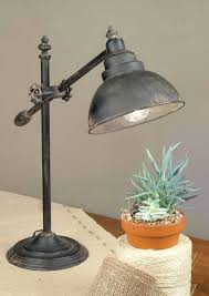 Vintage Inspired Adjustable Swing Arm Task Lamp Farmhouse Home Country Style Table Lamps
