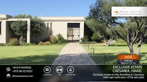 100 Caesarea Homes For Sale Exclusive Estate For Sale On The Shoreline In Israel