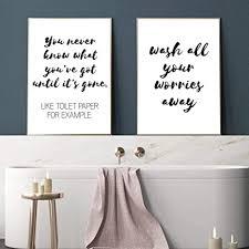 lustige badezimmer zeichen brief leinwand drucke und poster