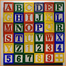 wood block letters