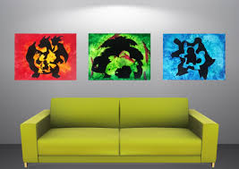3 Piece Colorful Canvas Art For Adorable Living Room Decor