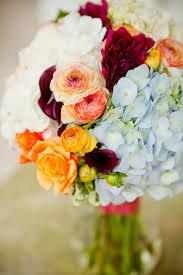 BEAUTIFUL Wedding bouquet of pale blue hydrangea burgundy dahlias