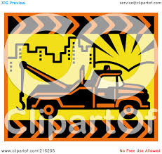 100 Tow Truck Clipart RoyaltyFree RF Illustration Of A Retro In A