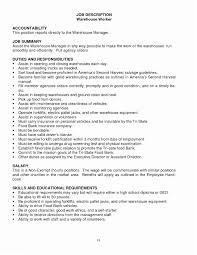 Warehouse Supervisor Resume Sample 2016 Job Description Samplebusinessresume