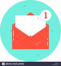 Ilustración De Sobre Blanco Carta Con Notificación Contraria