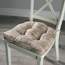 French Script Chair Cushions by Gingham Gripper Chair Pad Improvements Catalog
