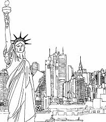 Good New York City Coloring Pages 67 In Line Drawings With