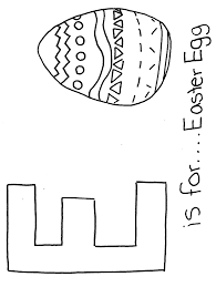 Letter Coloring Pages E For Easter Egg