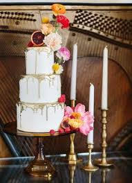 Colorful Retro Wedding Inspiration At The Ruby Street In Los Angeles Autumn CakesGold