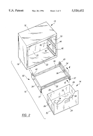Hon Vertical File Cabinet Drawer Removal by Patent Us5520452 File Cabinet Drawer Slide Disconnect Google