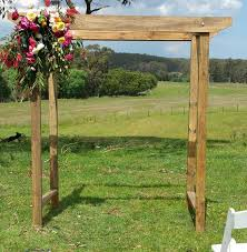 WEDDING ARCH HIRE OPTION 29 Bare Timber Wedding Arch Draped With Flowers And Greenery 280
