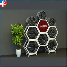 Unique Tire Display Rack Stand Car Wheel Hub Cube